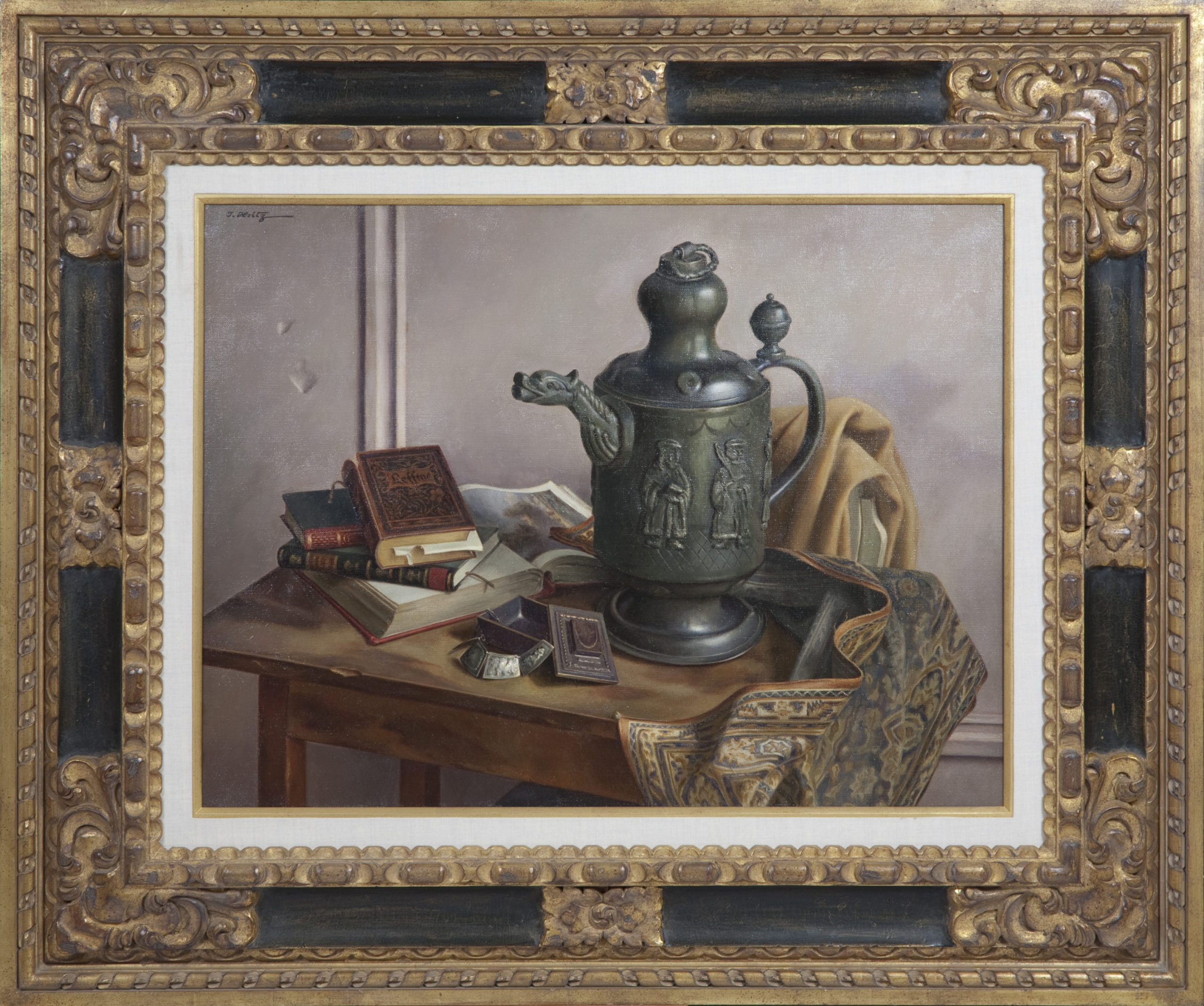 128 Antiques 1953 - Oil on Canvas - 25.9 x 34 - Frame: 50.5 x 42.5 x 3