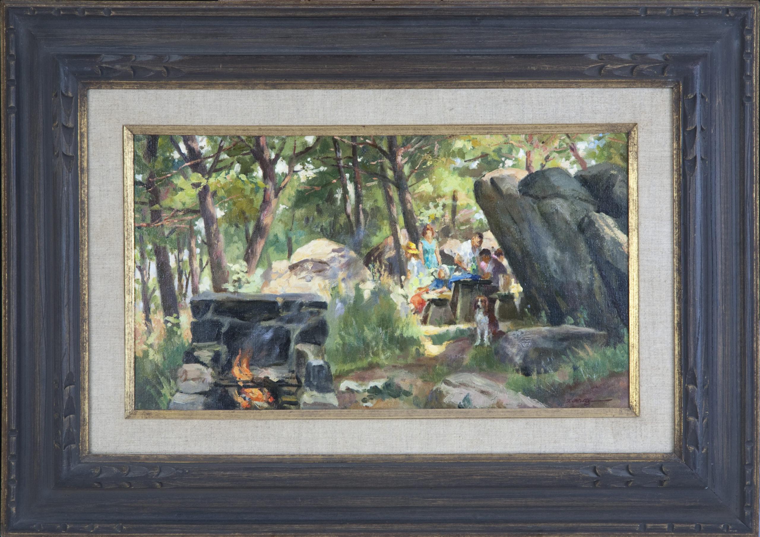 136 Summertime Sunday 1968 - Oil on Canvas - 18 x 10 - Frame: 27.5 x 19.25 x 2