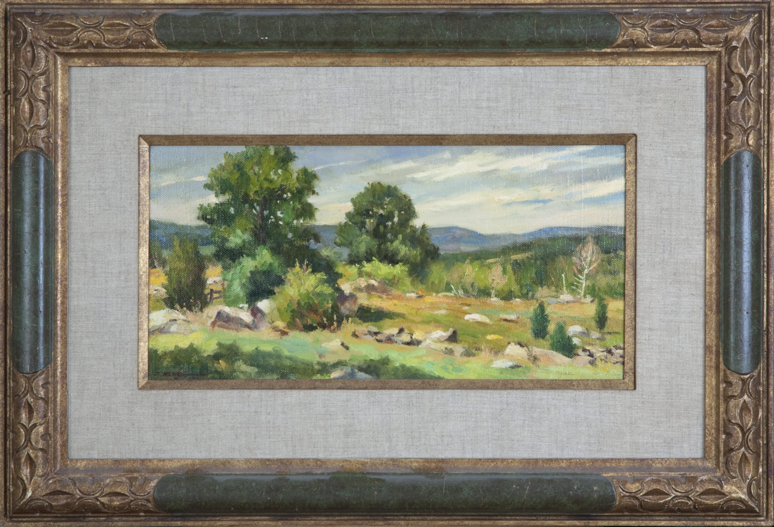 137 Spring 1969 - Oil on Canvas - 16 x 8 - Frame: 25.5 x 17.5 x 1.5