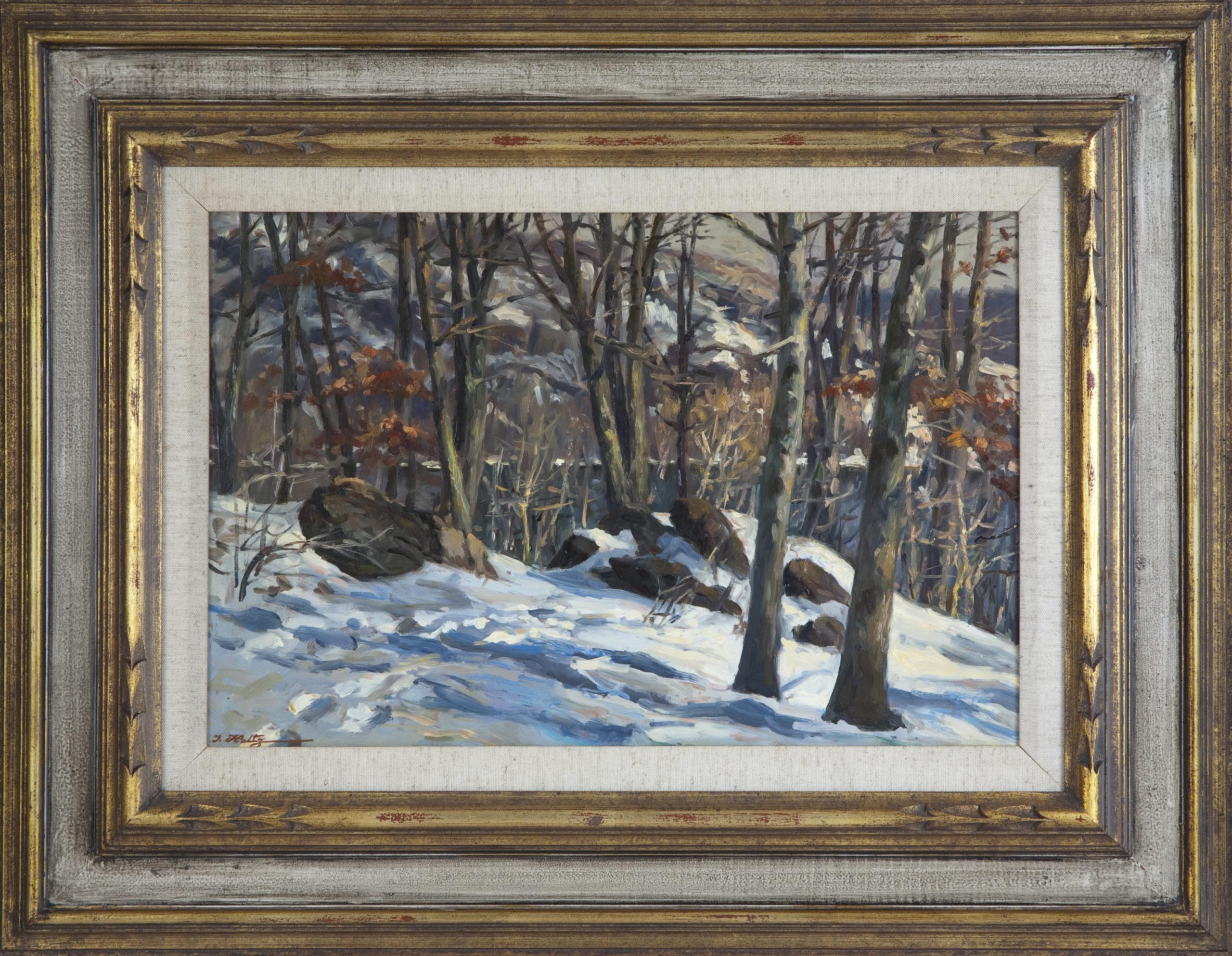 139 Bear Mountain 1966 - Oil on Masonite - 18 x 12 - Frame: 27 x 20.5 x 1.5