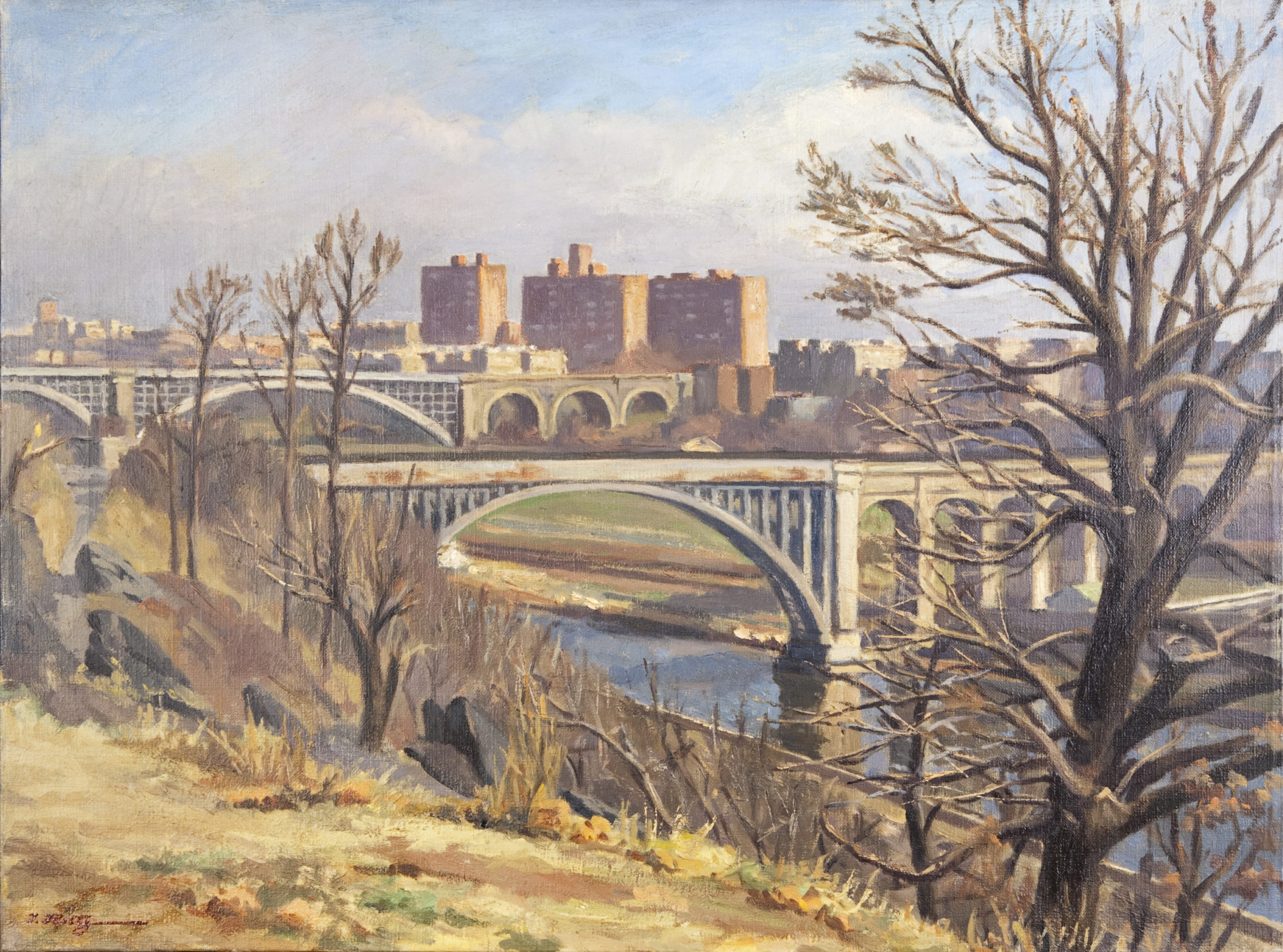 141 Highbridge 1964 - Oil on Canvas - 24 x 18 - No Frame