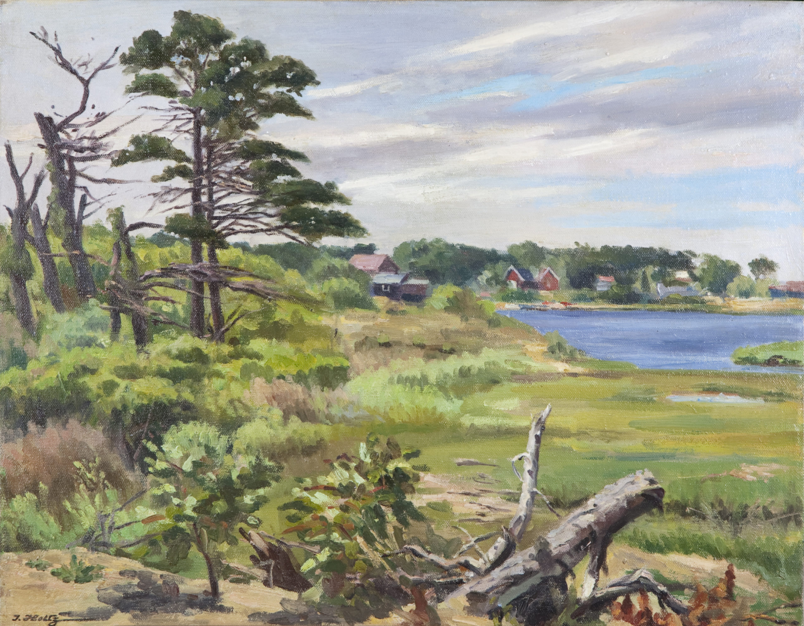 142 Along Cape Cod 1965 - Oil on Canvas - 20 x 16 - No Frame