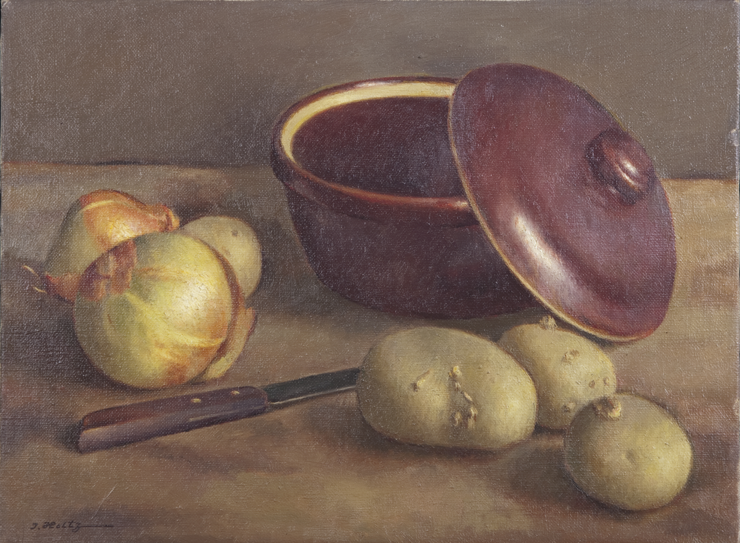 145 Still Life with Onions 1964 - Oil on Canvas - 16 x 12 - No Frame