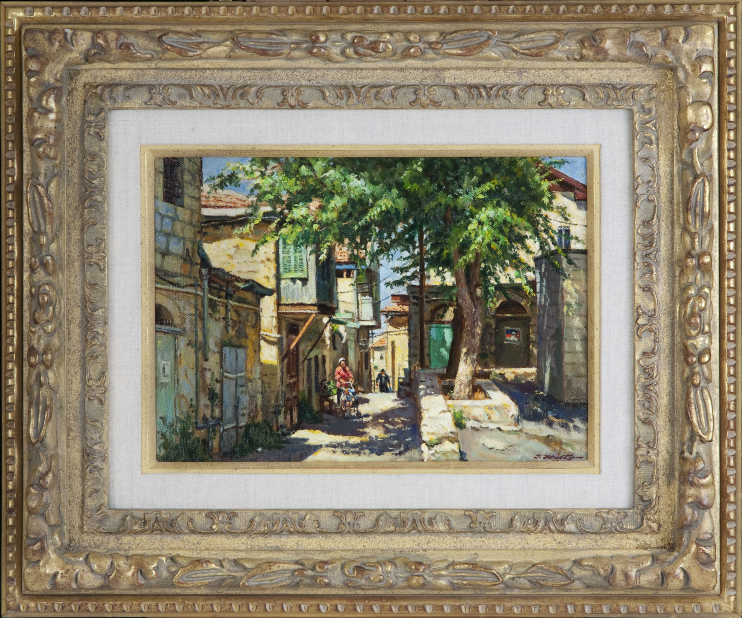 185 Jerusalem Light 1996 - Oil on Masonite - 14 x 9.75 - Frame: 23.5 x 19.5 x 2.25