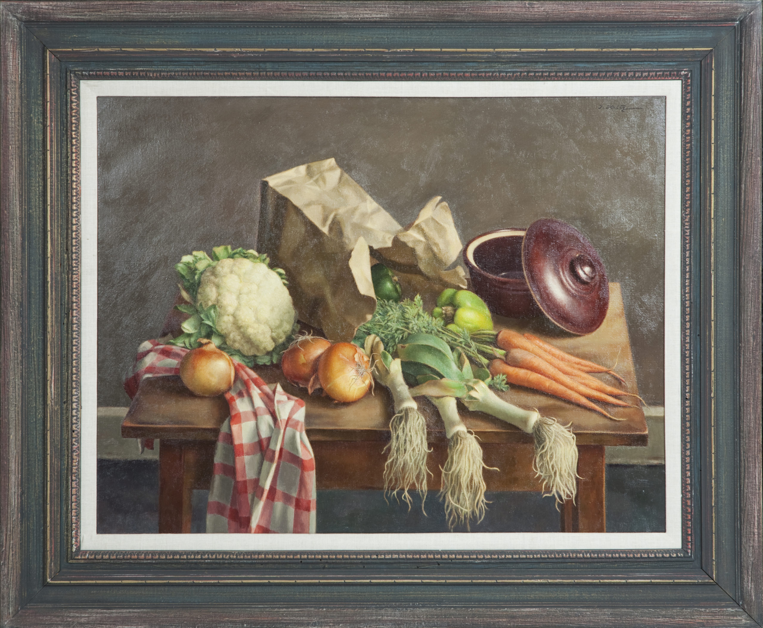 188 Vegetables 1953 - Oil on Canvas - 26 x 34 - Frame: 44.5 x 36.75 x 2.75