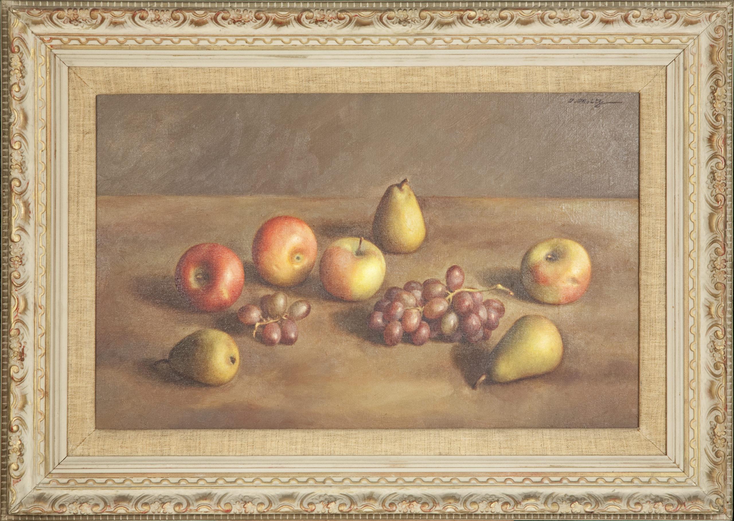 242 Still Life with Gr 1953 - Oil on Canvas - 23.25 x 16.5 - Frame: 34.125 x 23.5 x 1.75
