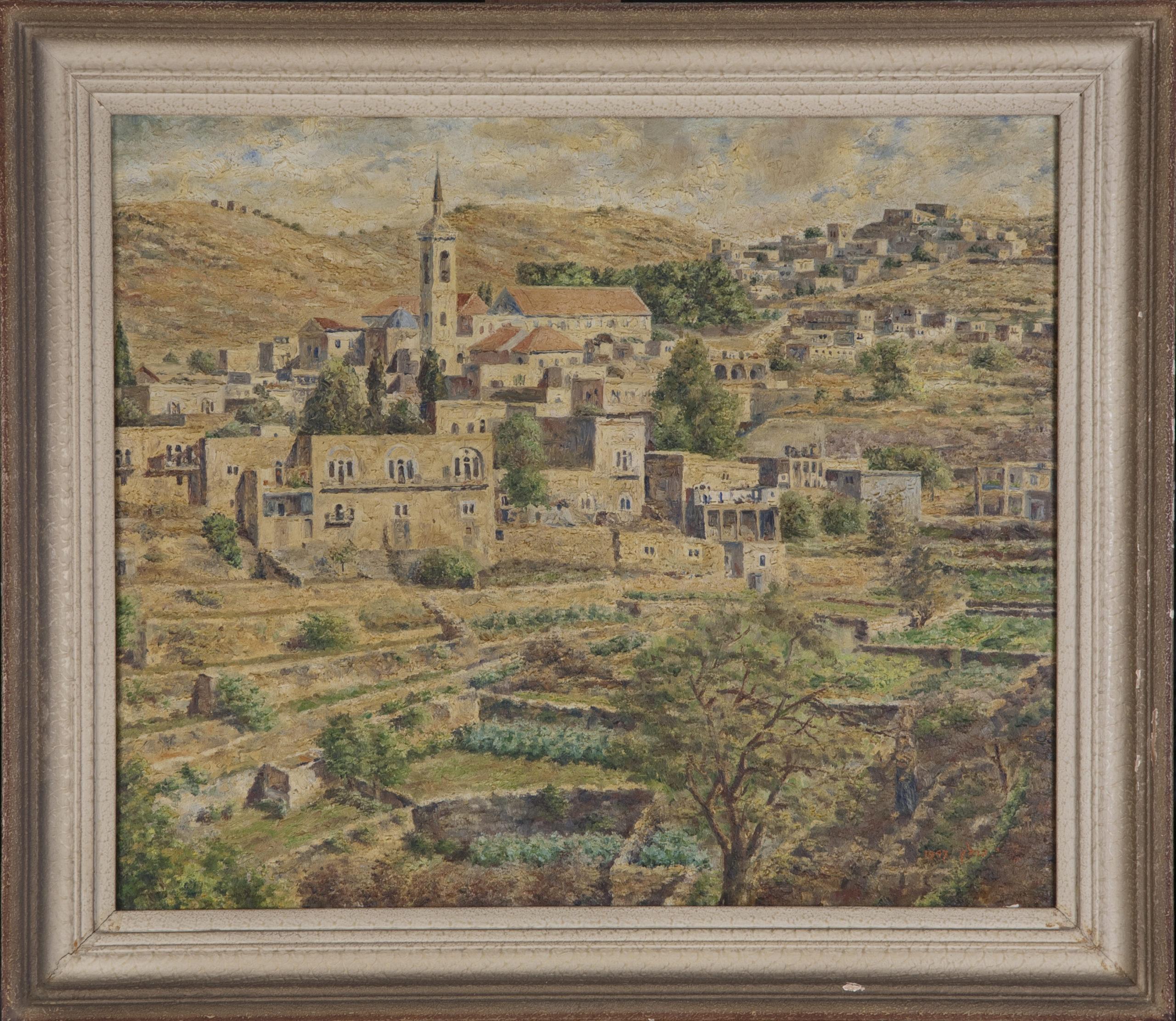 244 Ein Karem 1947 - Oil on Canvas - 21.5 x 18.125 - Frame: 25.25 x 22.5 x 1.5