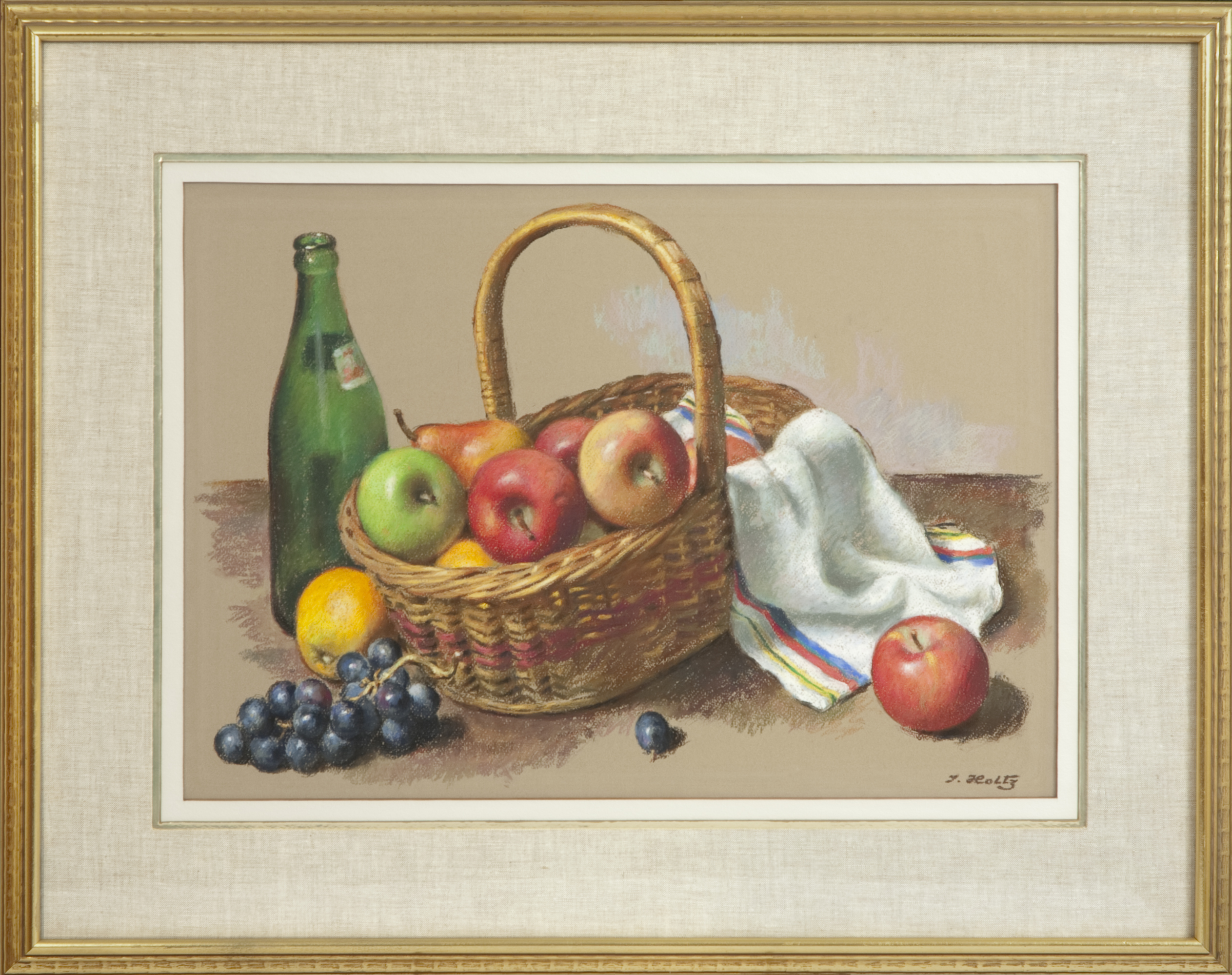 250 Basket with Fruit 1961 - Pastel - 23.5 x 16.5 - Frame: 33.625 x 26.75 x 1.25