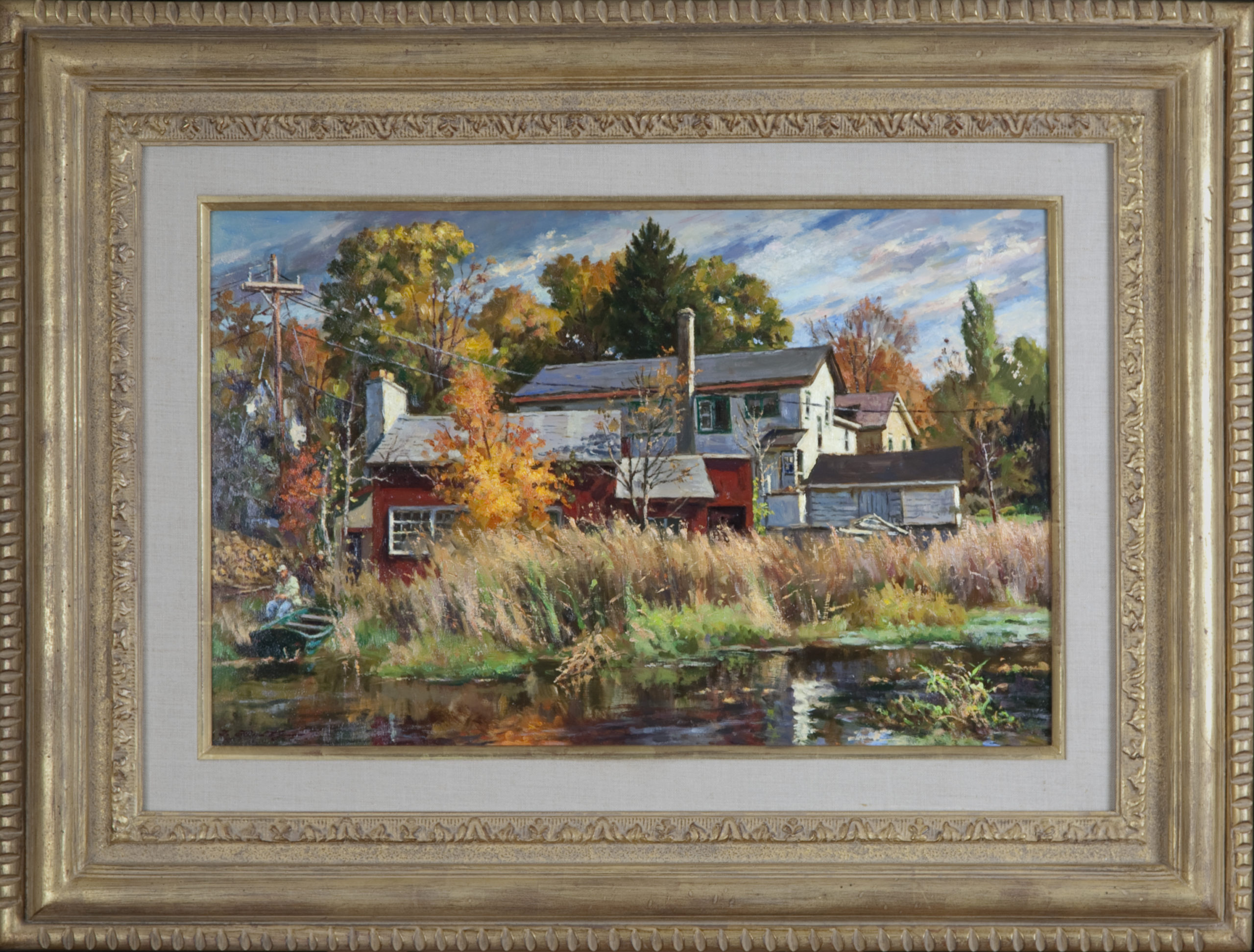 276 Tranquility NY - Oil on Canvas - 22 x 14 - Frame: 33 x 24.75 x 2.25