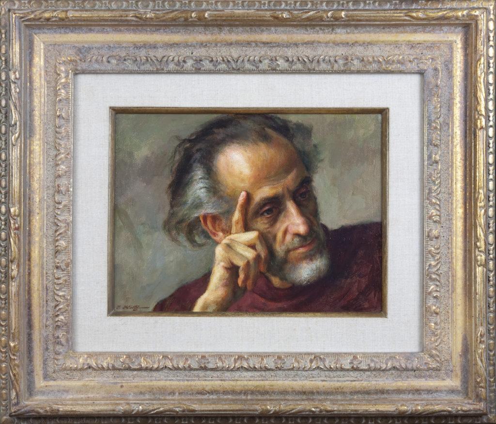 022 Man of Mood Howard 1975 - Oil on Canvas - 12 x 9 - Frame: 21.5 x 18.5 x 2.5