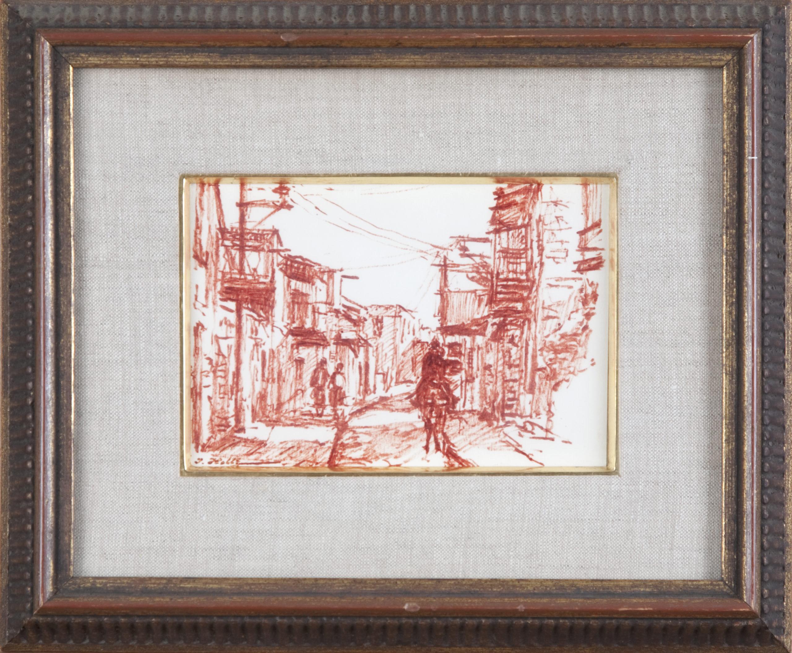 D01 Street in Safed 1966 - Marker - 7 x 5 - Framed