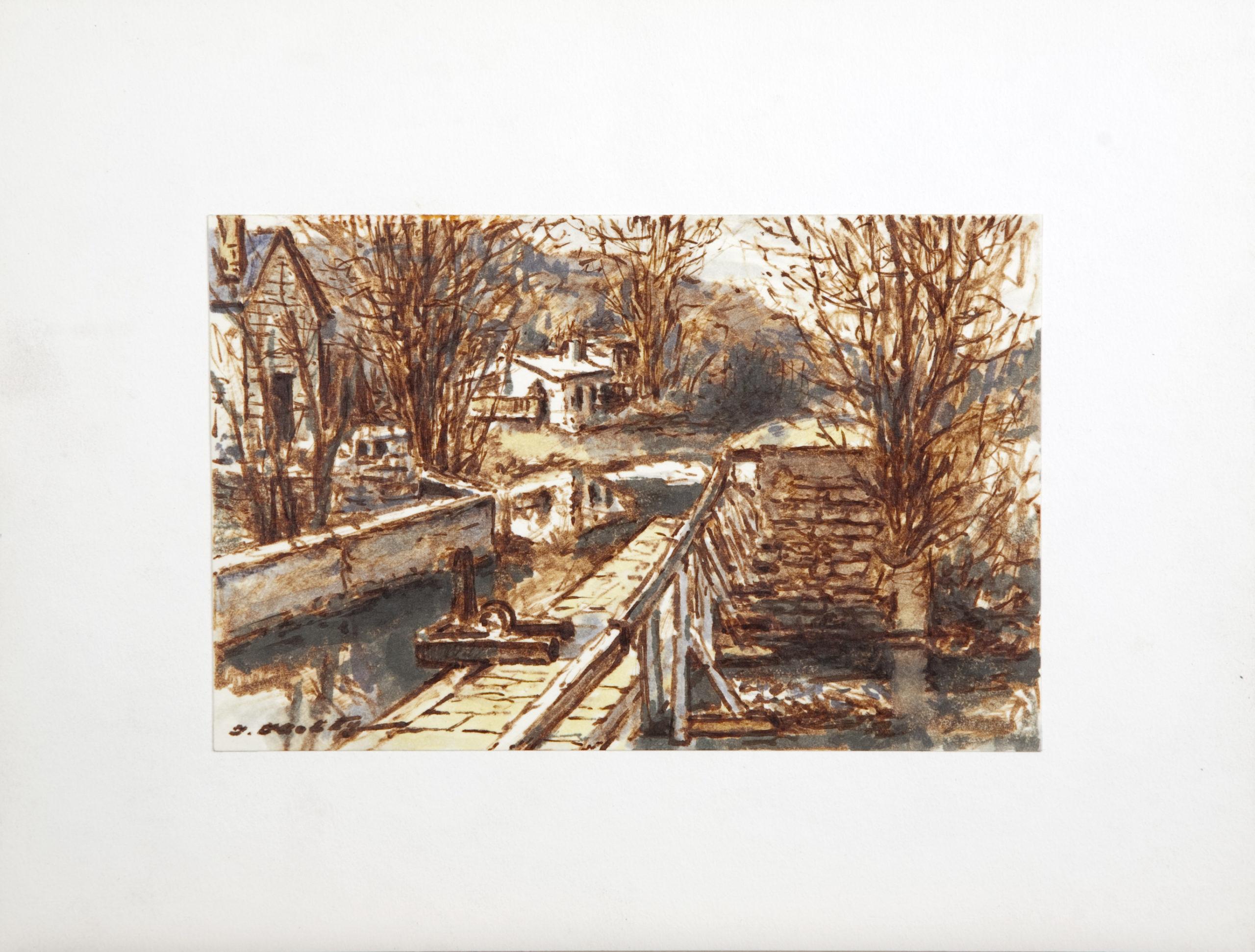 D29 Lambertville NJ - Colored Marker - 8.5 x 5.5 - Matt: 12.75 x 10 - No Frame