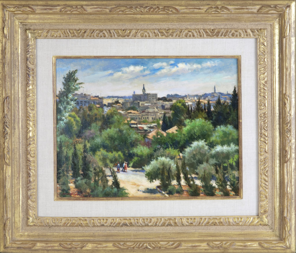 025 Jerusalem 1979 - Oil on Canvas - 16 x 12 - Frame: 25.5 x 22 x 2.5