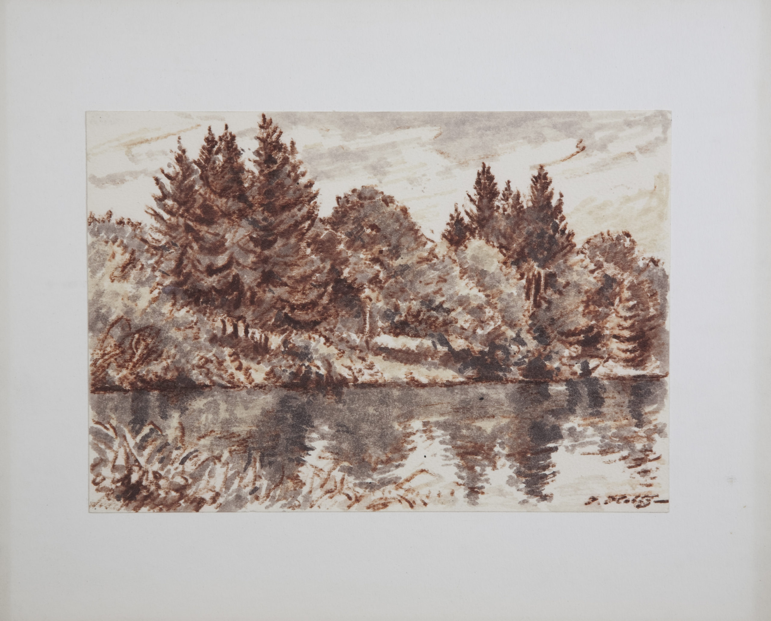 D35 The Lake 1 - Colored Marker - 10 x 7 - Matt: 15 x 12 - No Frame