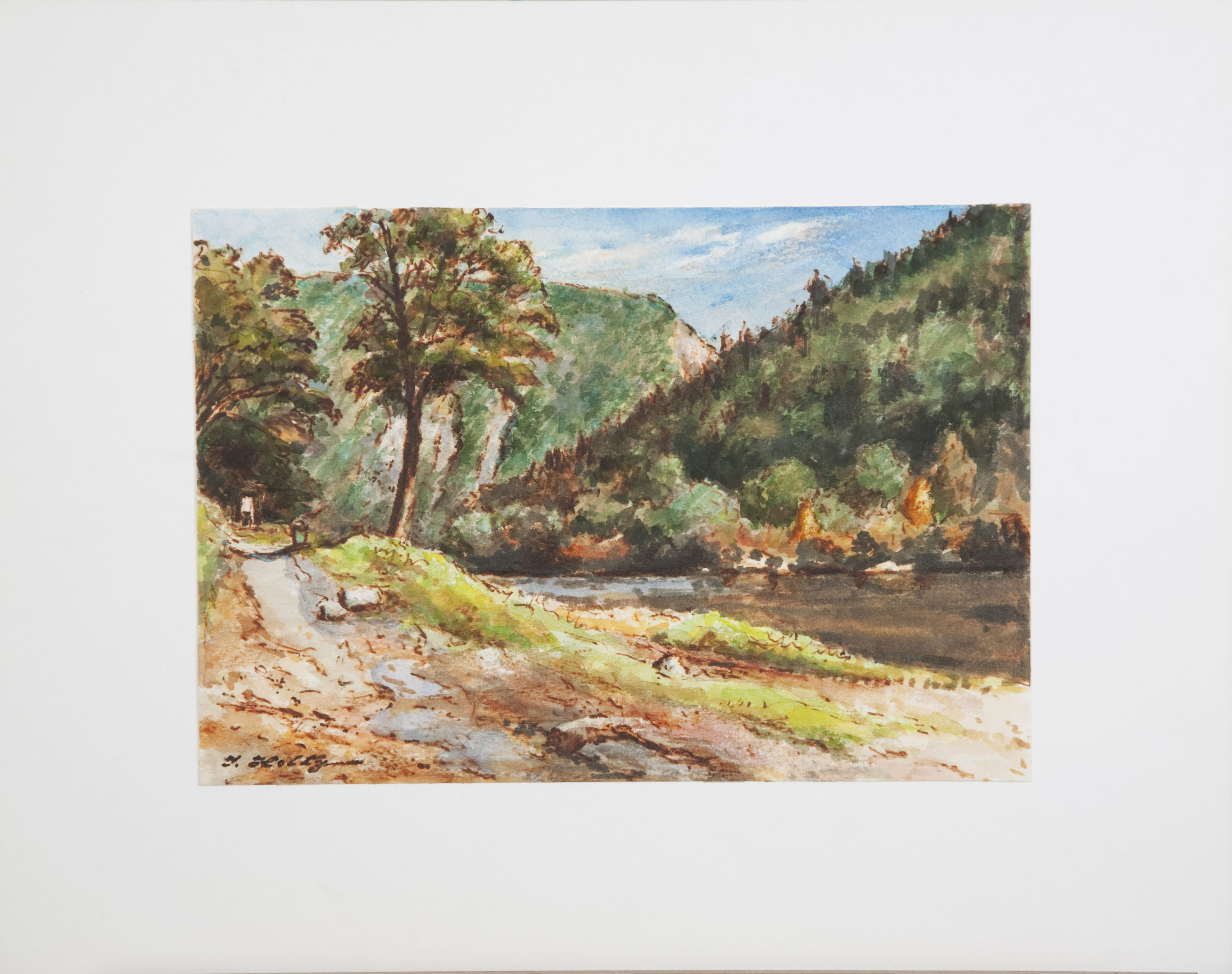 D37 Lakeside Road - Colored Marker - 10 x 7 - Matt: 15 x 12 - No Frame