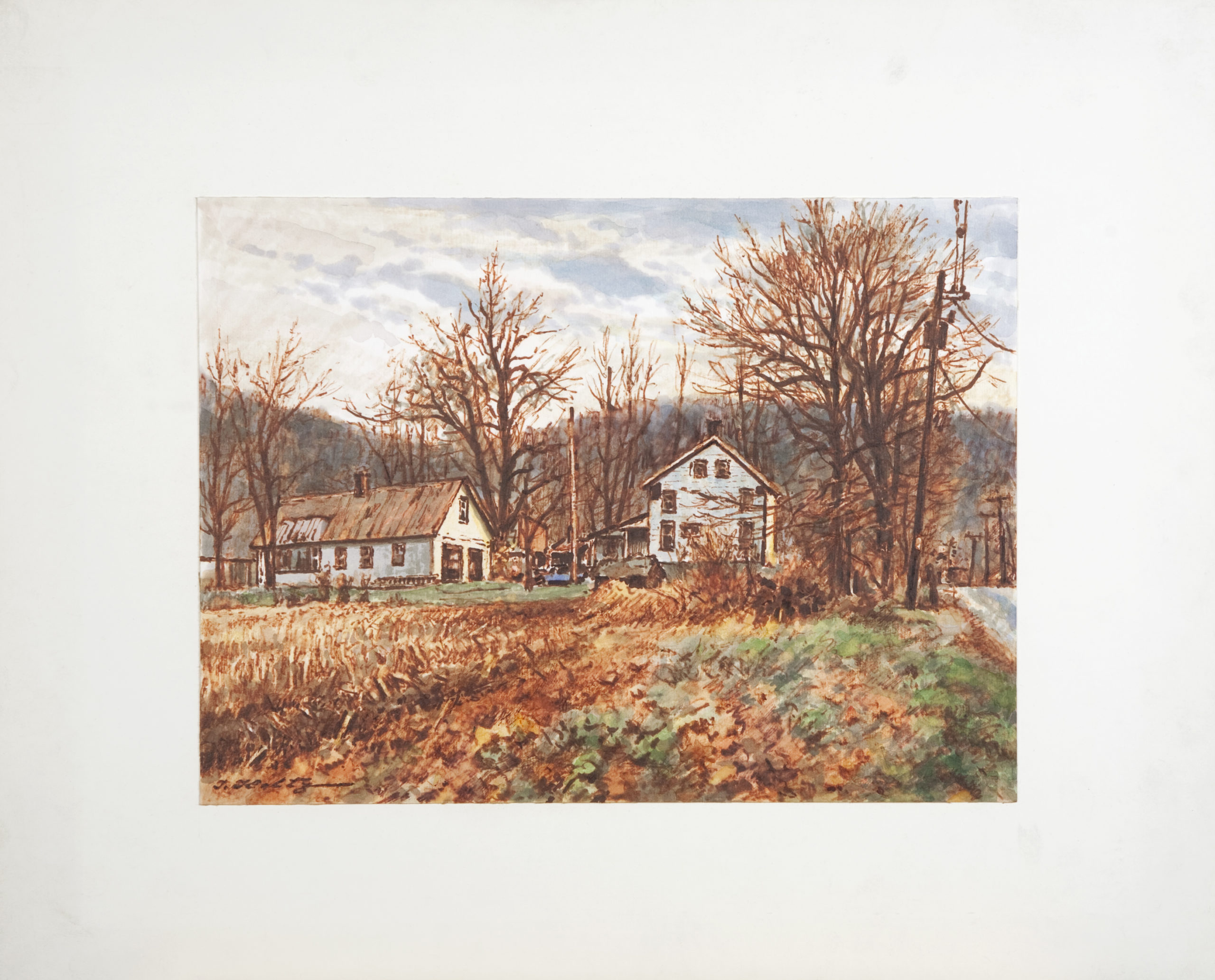 D41 Country Houses - Colored Marker - 12.125 x 9 - Matt: 18.25 x 15 x 0 - No Frame
