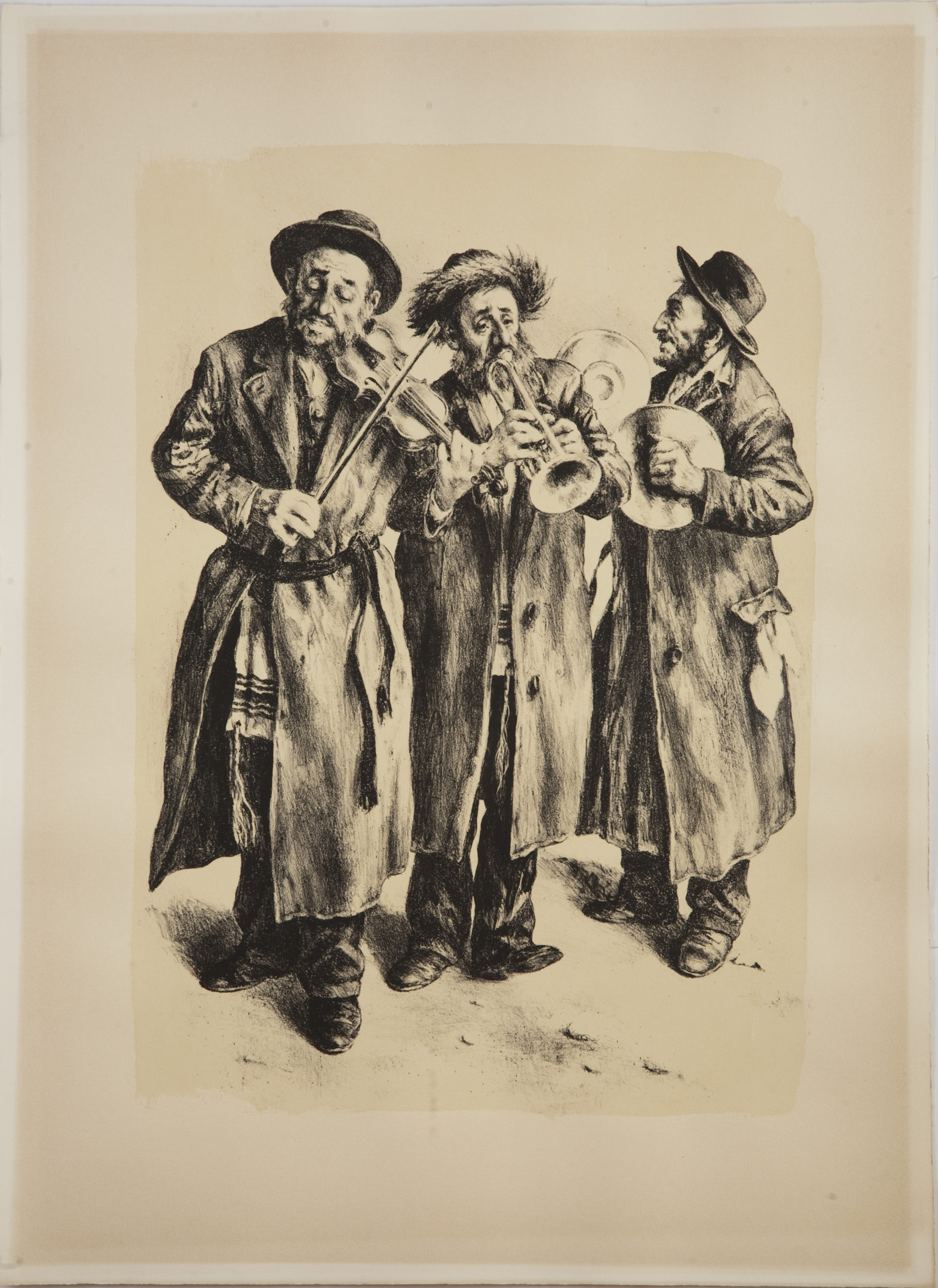 L02B Musicians - Black and White - Lithograph - 21.5 x 30 - No Frame - $530