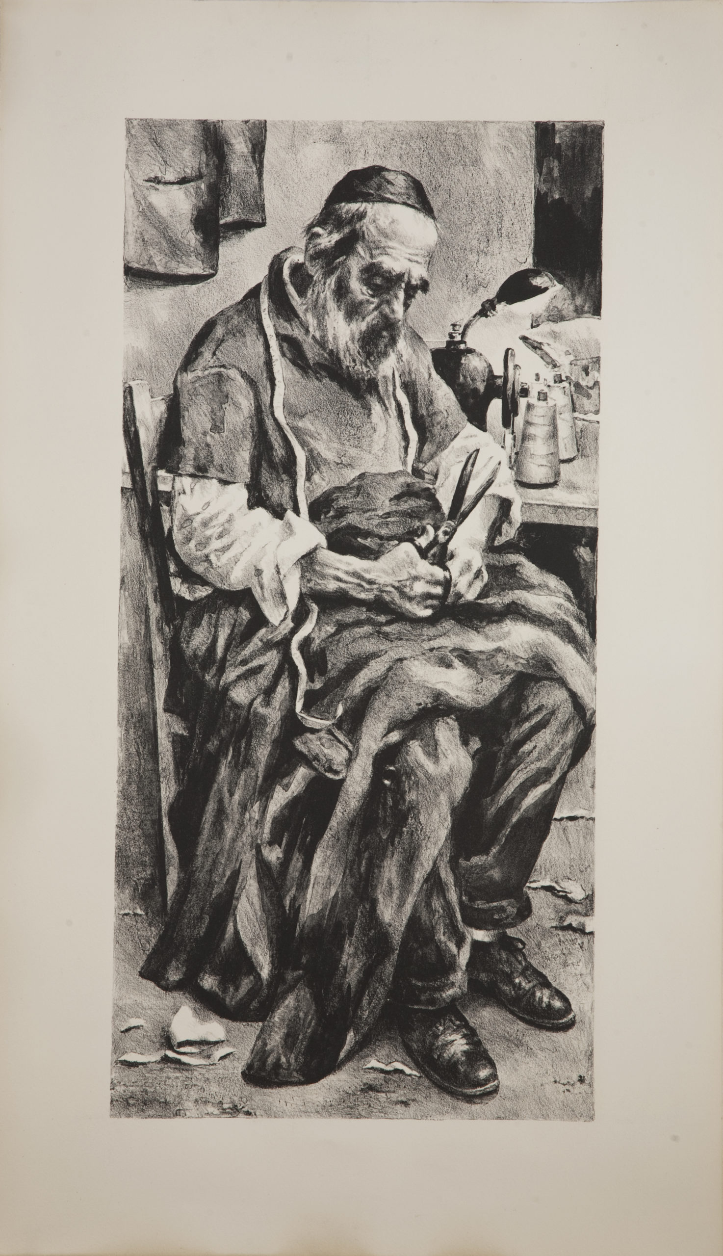 L03B Tailor - Black and White - Lithograph - 17.5 x 30 - Matt - No Frame - $450
