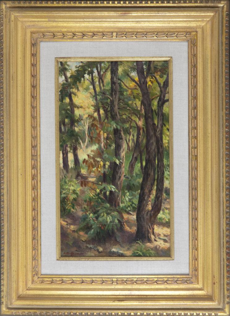 028 Morning Light 1969 - Oil on Canvas - 10 x 18 - Frame: 20.5 x 28.75 x 2.25