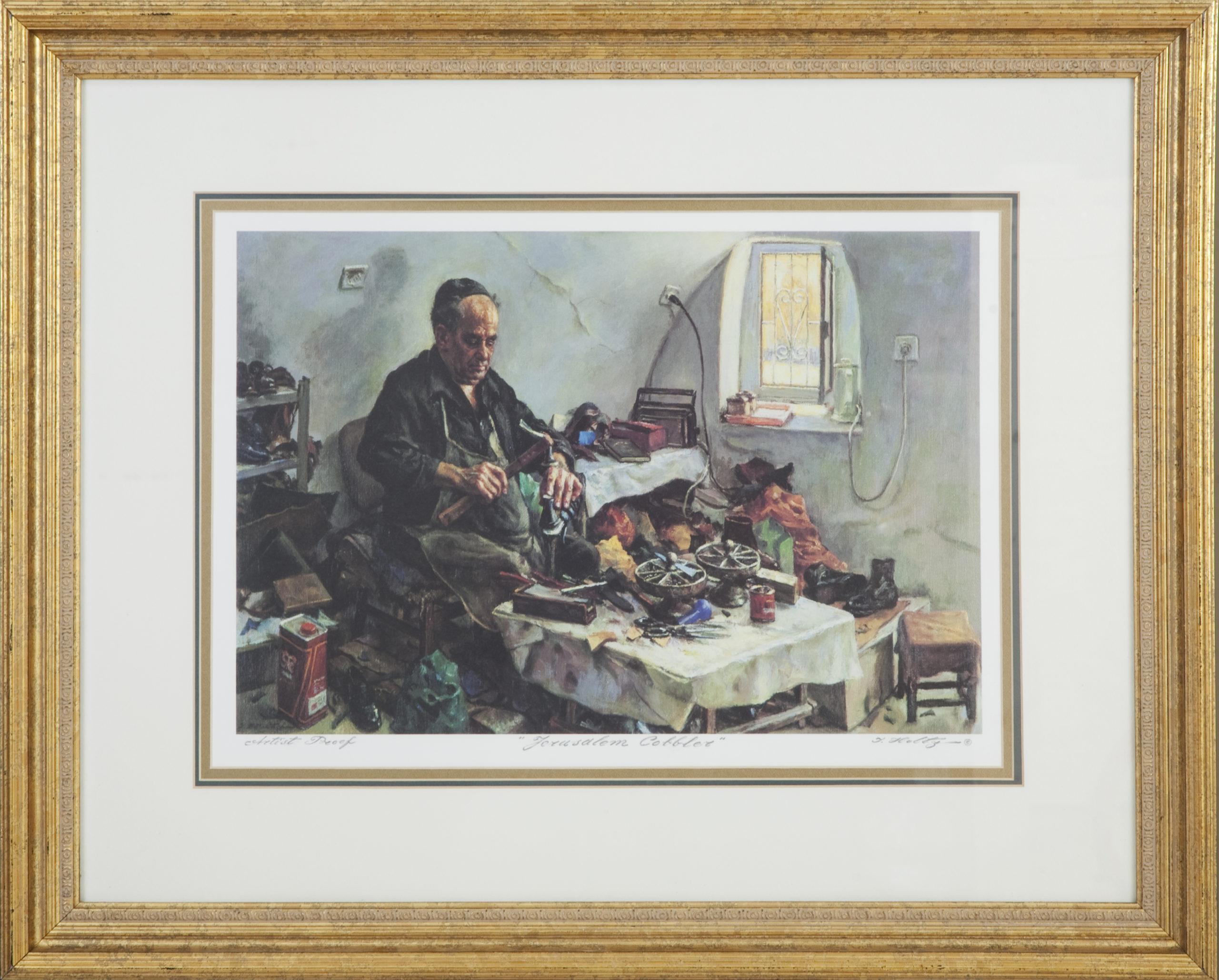 L07F Jerusalem Cobbler - Color - Lithograph - 32 x 25.5 - Framed