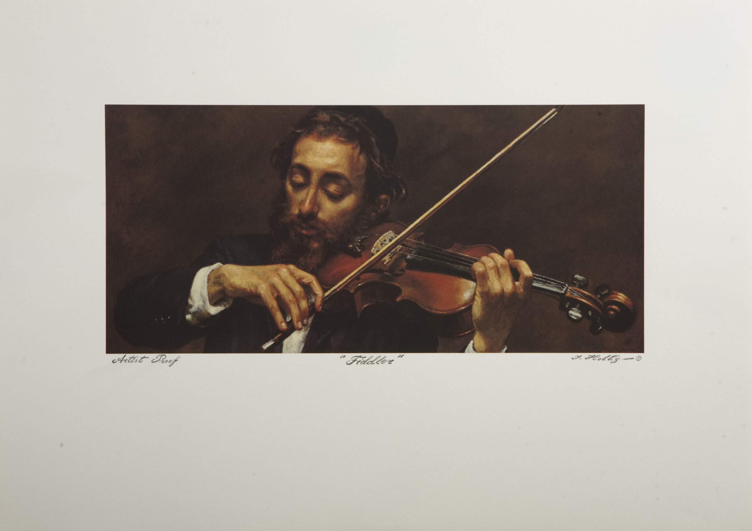 L10 Fiddler - Color - Lithograph - 26.25 x 16.5 - No Frame - $450