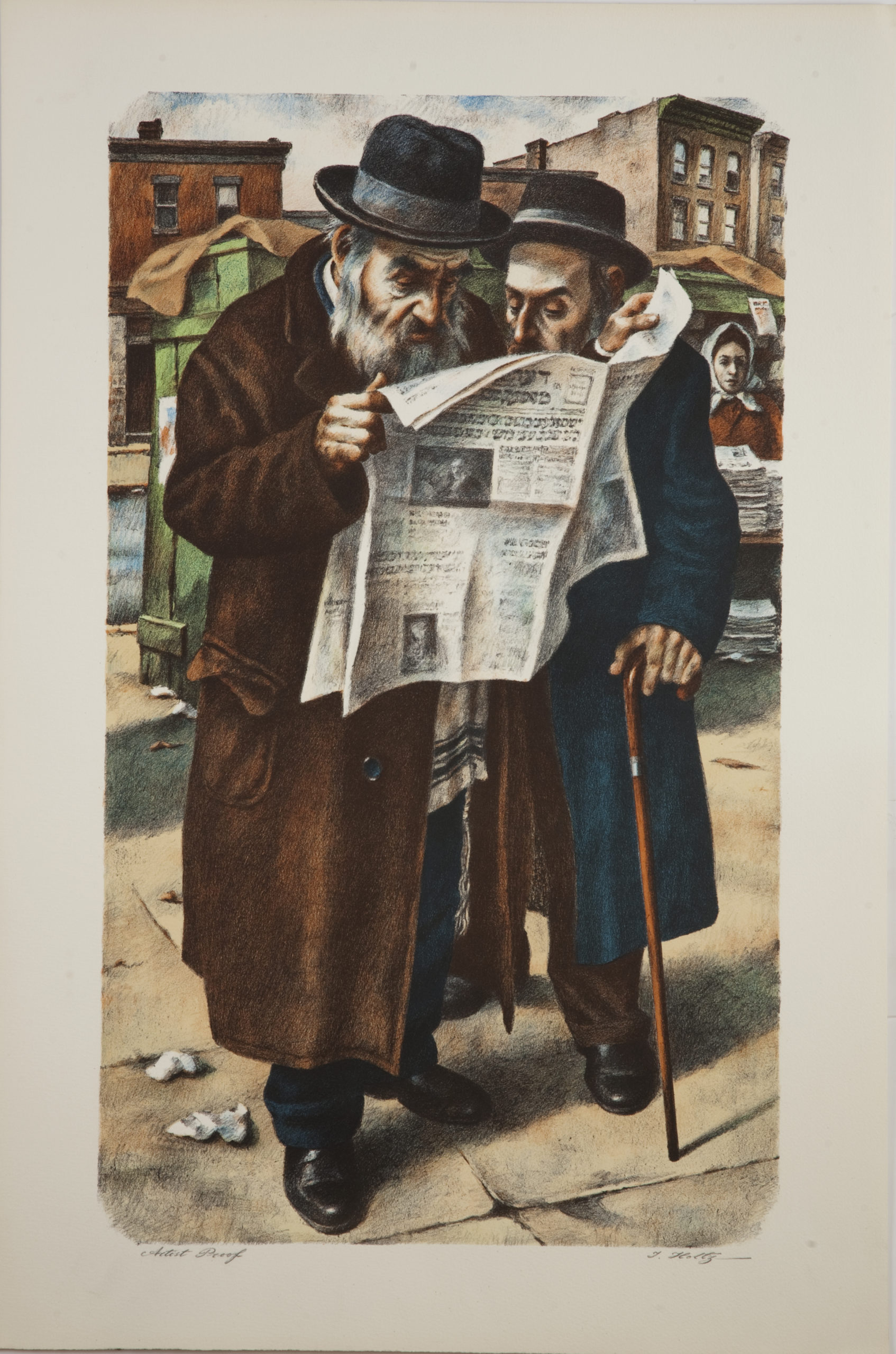 L19C Reading the Newspaper - Color - Lithograph - 20 x 30 - No Frame