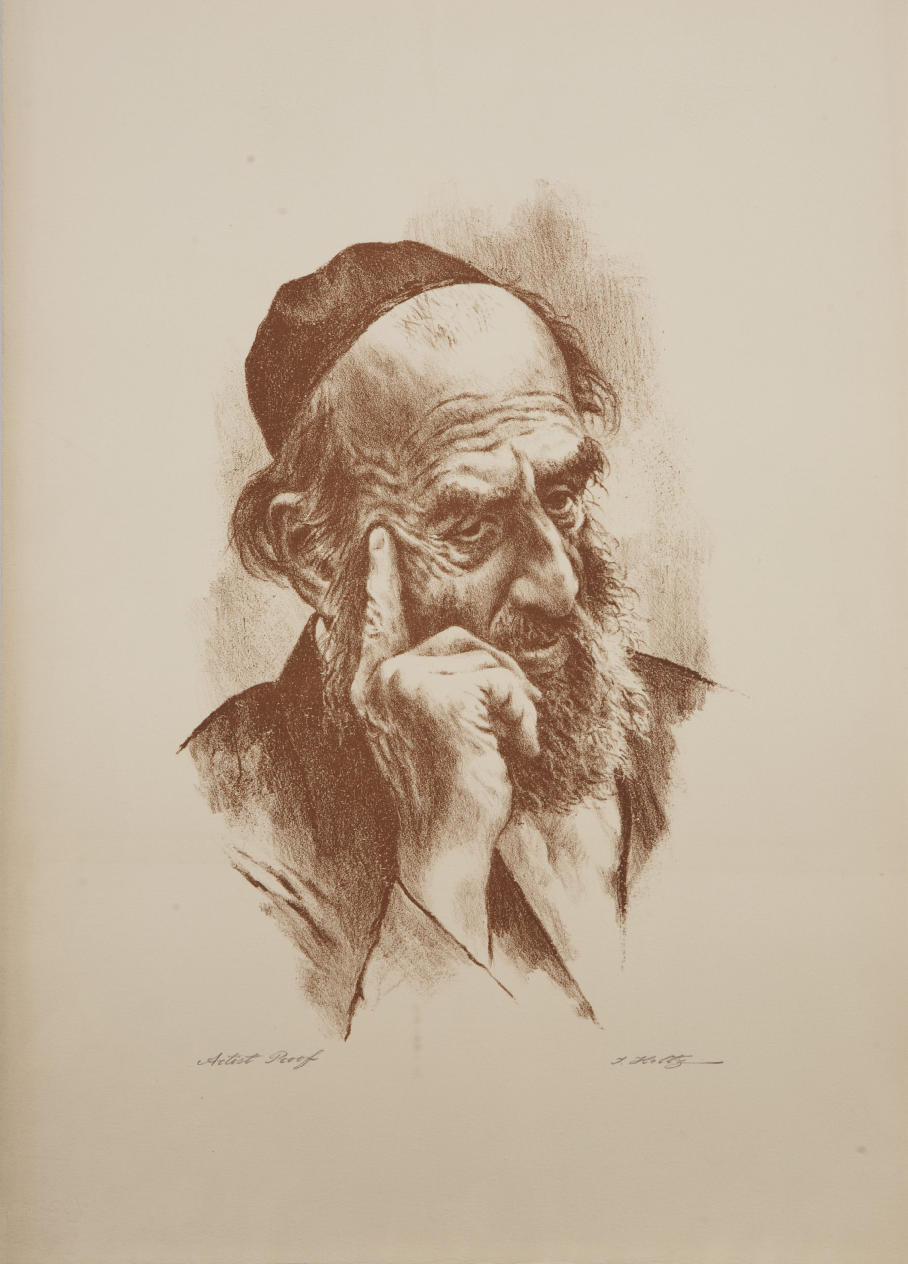 L33S Thinker Right Hand - Sepia - Lithograph - 15 x 21 - No Frame - $340