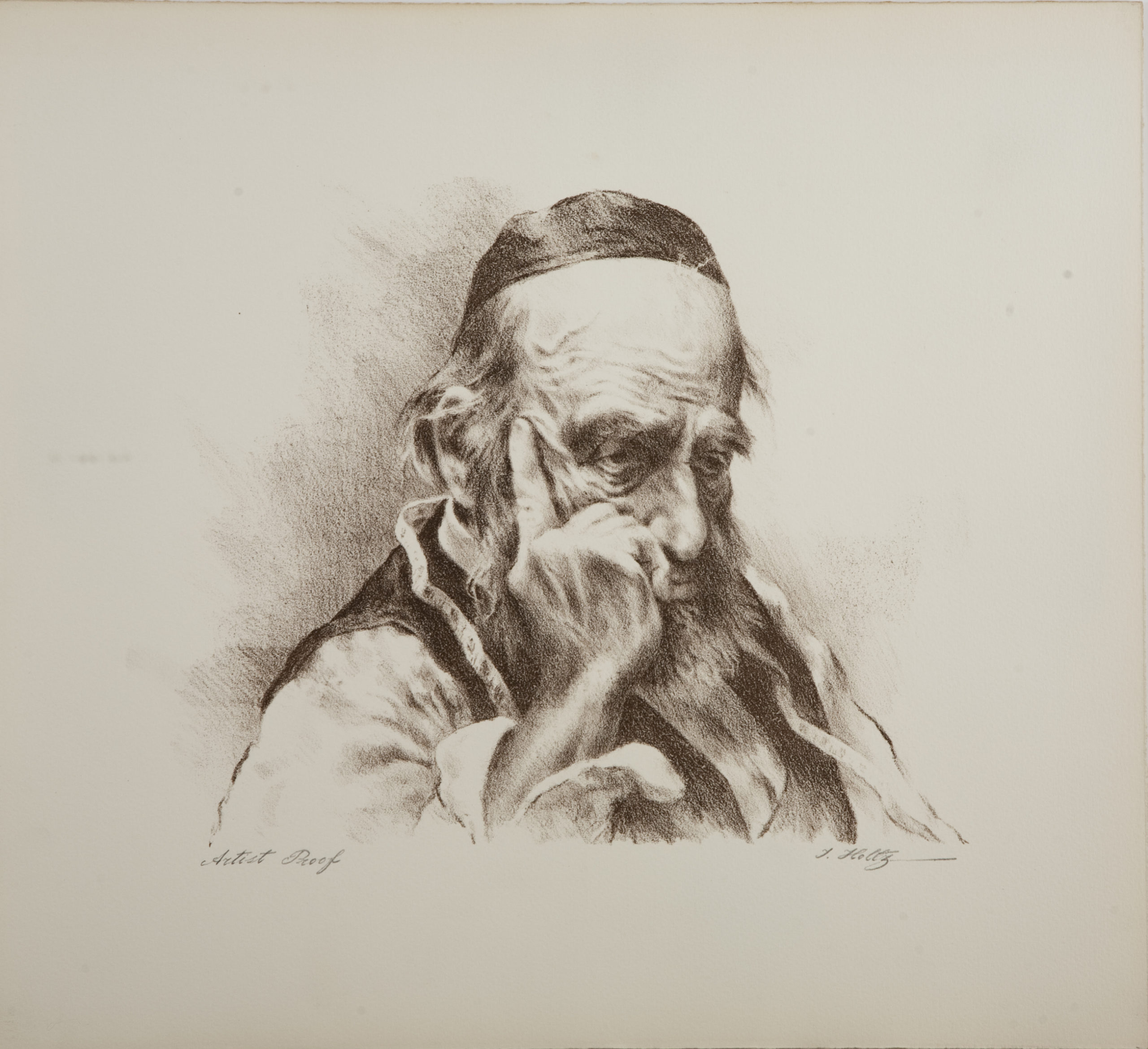 L65S Thinker Tailor - Sepia - Lithograph - 17.25 x 15.5 - No Frame - $340