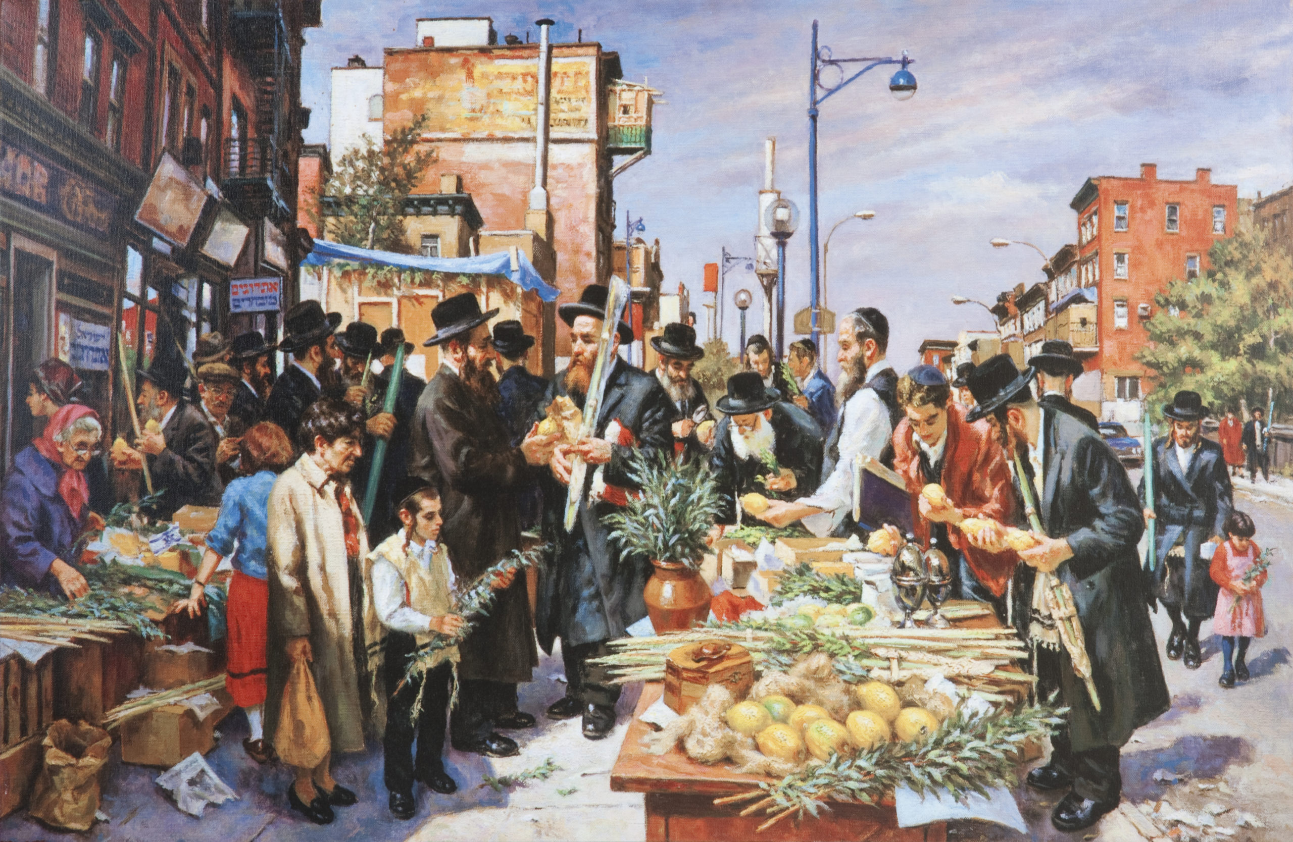 L91 Shopping for Succoth - Giclee - Lithograph - 35 x 24 - No Frame - $890