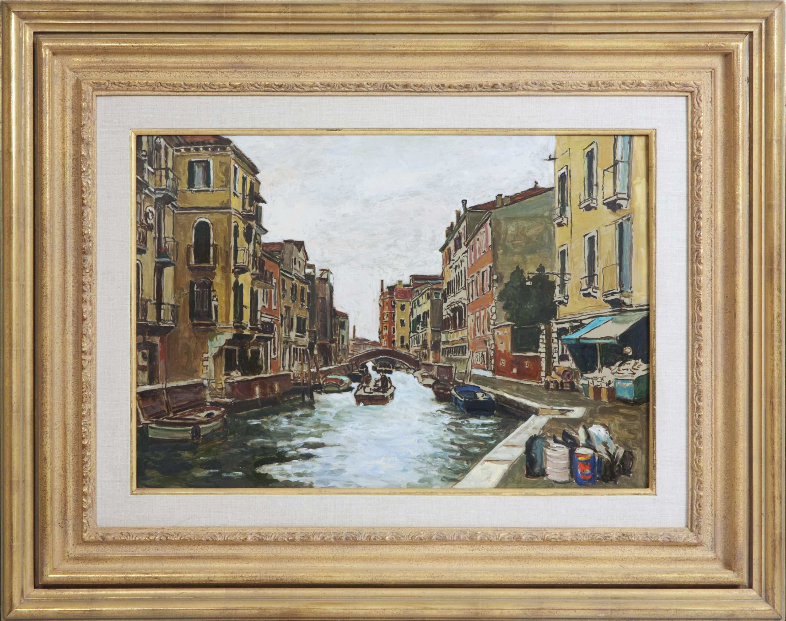 037 Venice unf - Oil on Masonite - 26 x 17.5 - Frame: 38.5 x 30.5 x 2.5