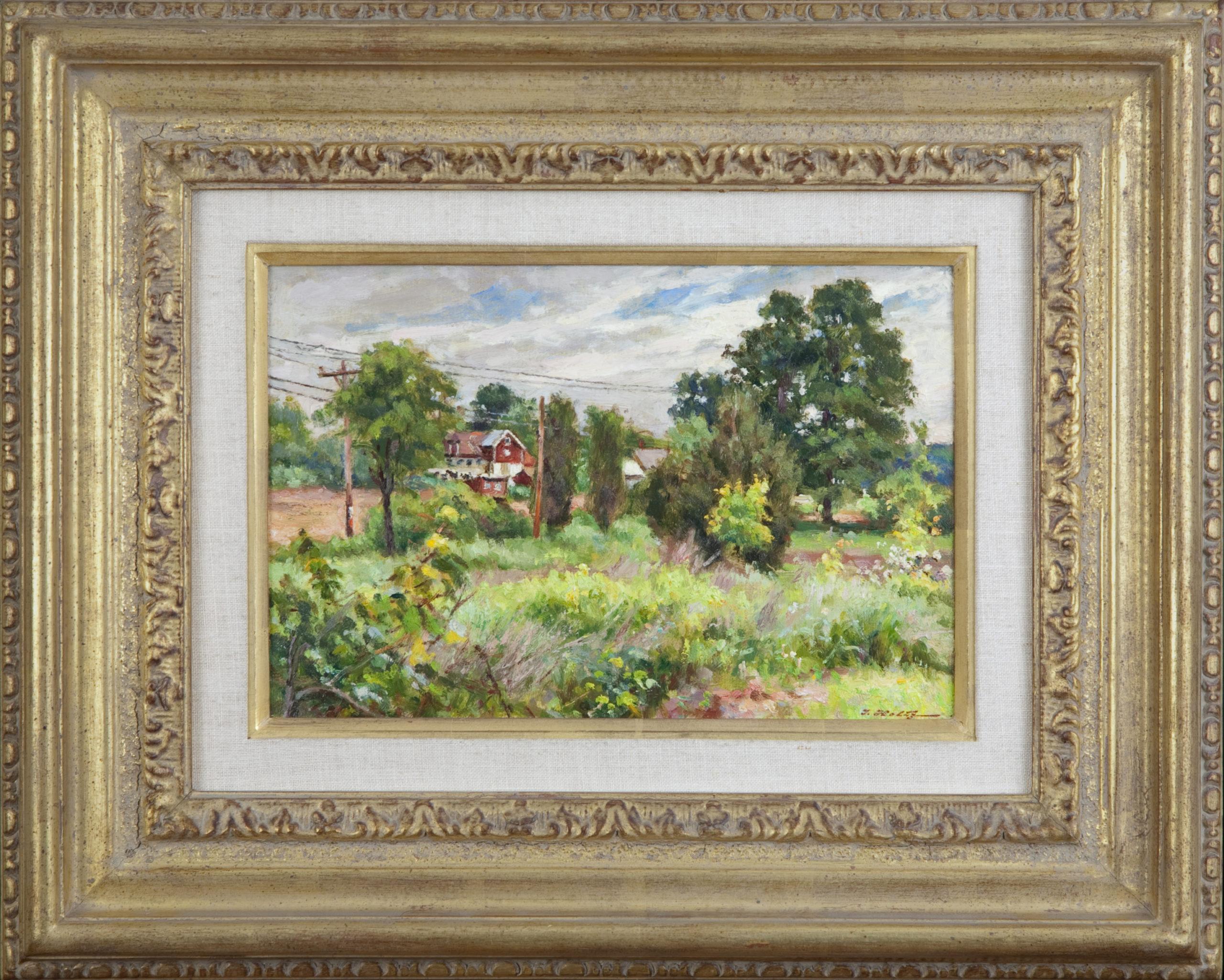 041 Summer End 1982 - Oil on Canvas - 12 x 8 - Frame: 16.75 x 20.75 x 2.25