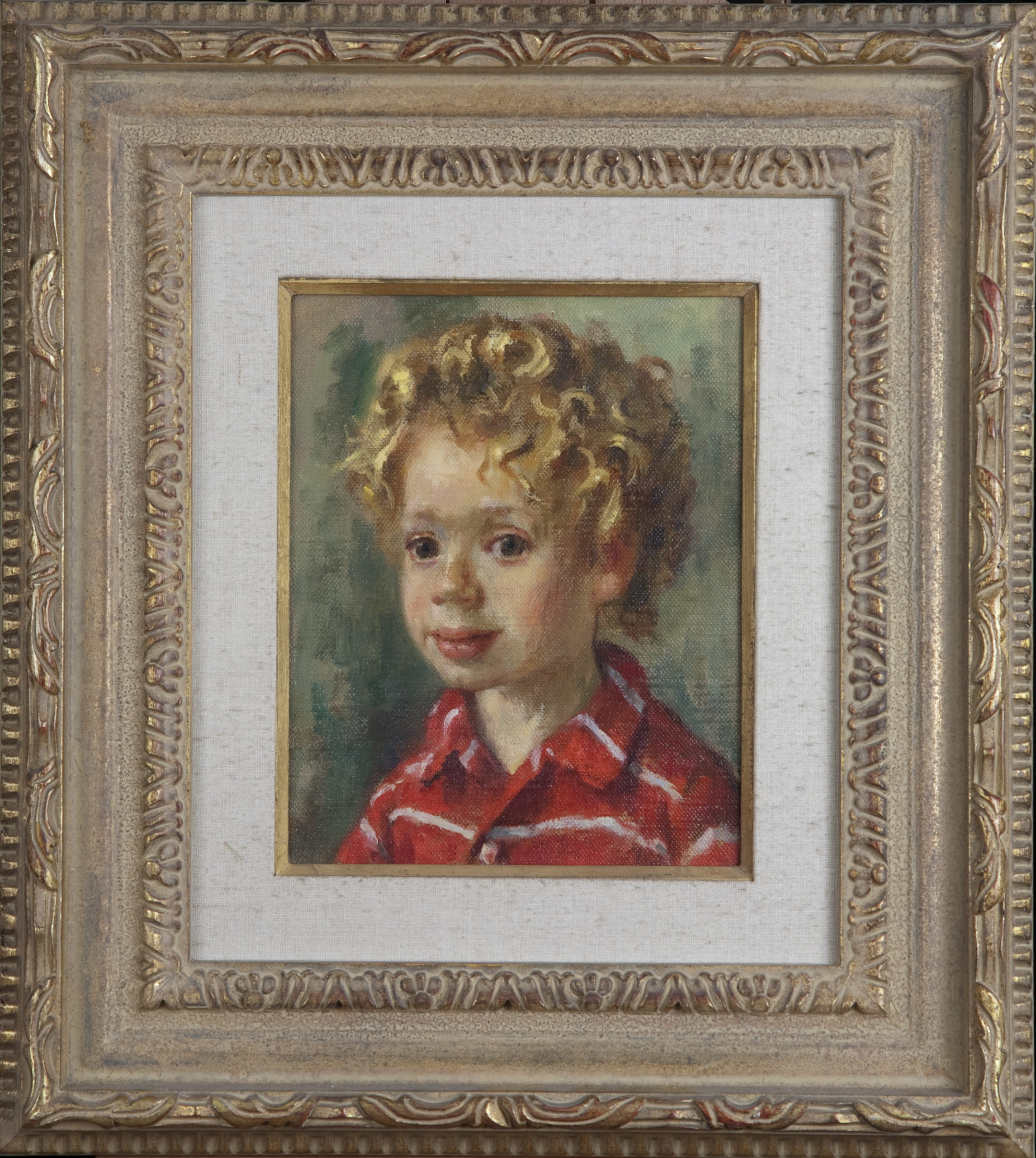 059 Arie age 3 1969 - Oil on Canvas - 8 x 10 - Frame: 17.5 x 19.5 x 2.5