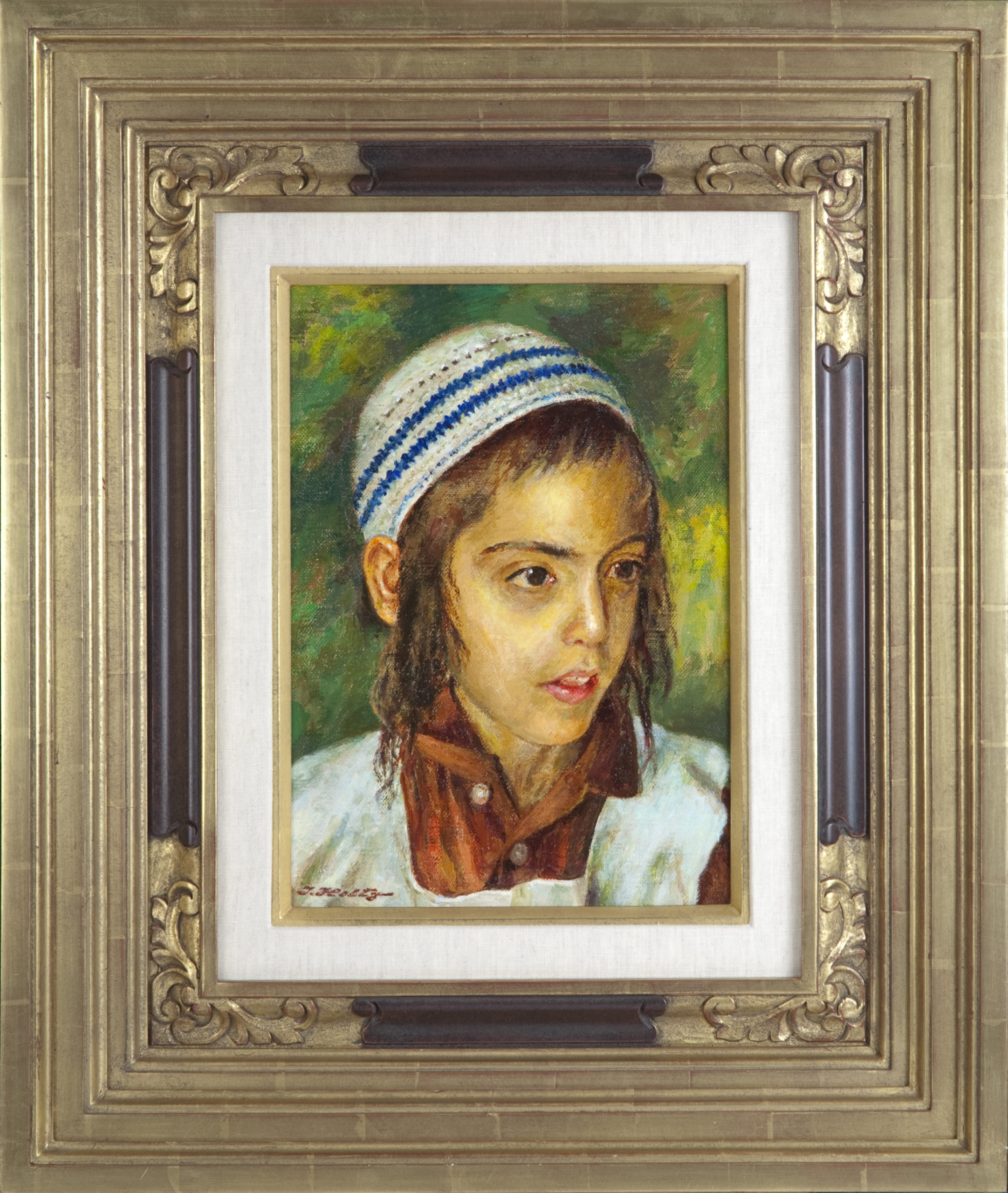 077 Jerusalem Boy 2009 - Oil on Canvas - 10 x 14 - Frame: 21.75 x 26 x 3
