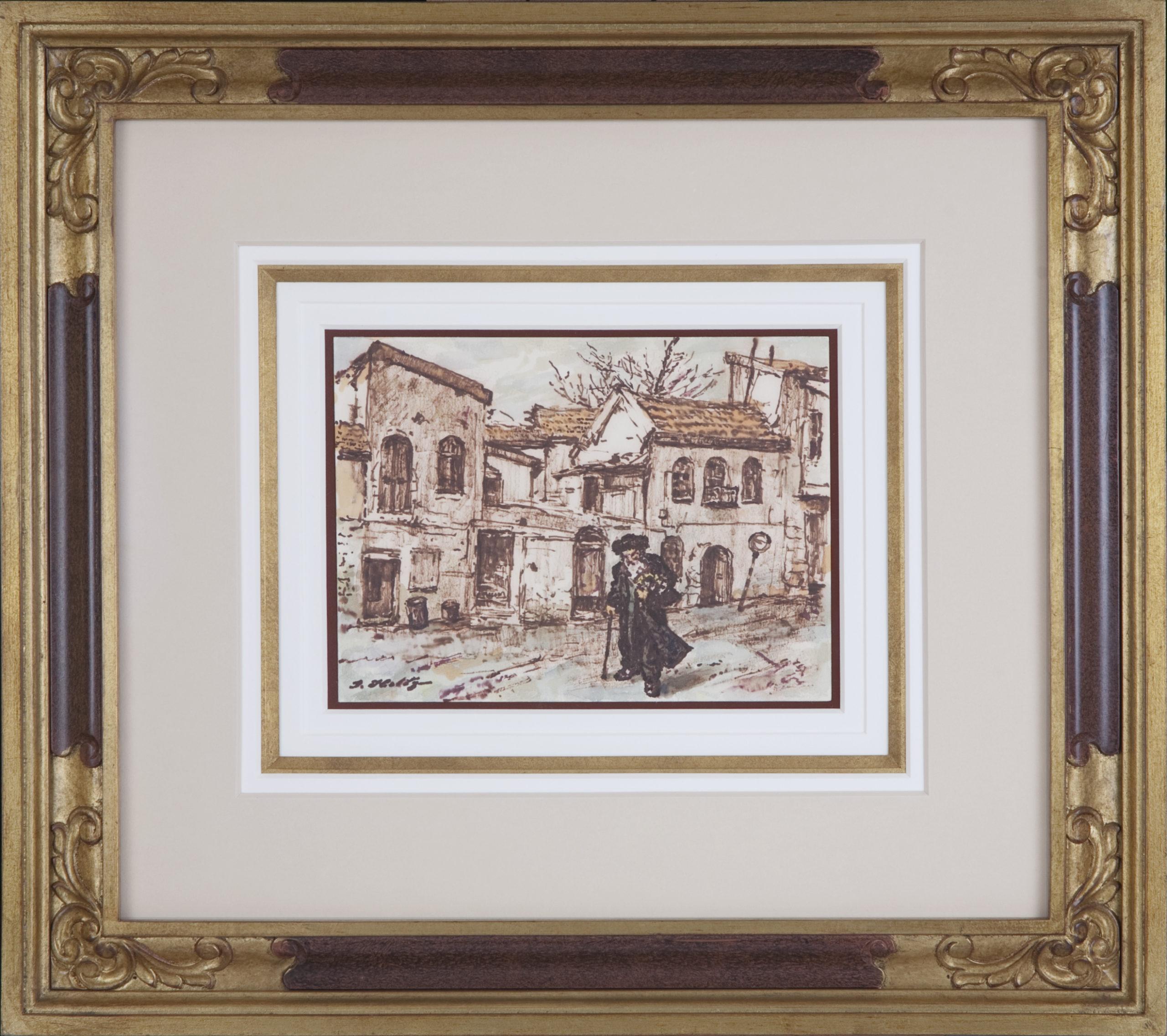 082 Shabbat 1968 - Marker - 9.75 x 7 - Frame: 22.75 x 20.25 x 2