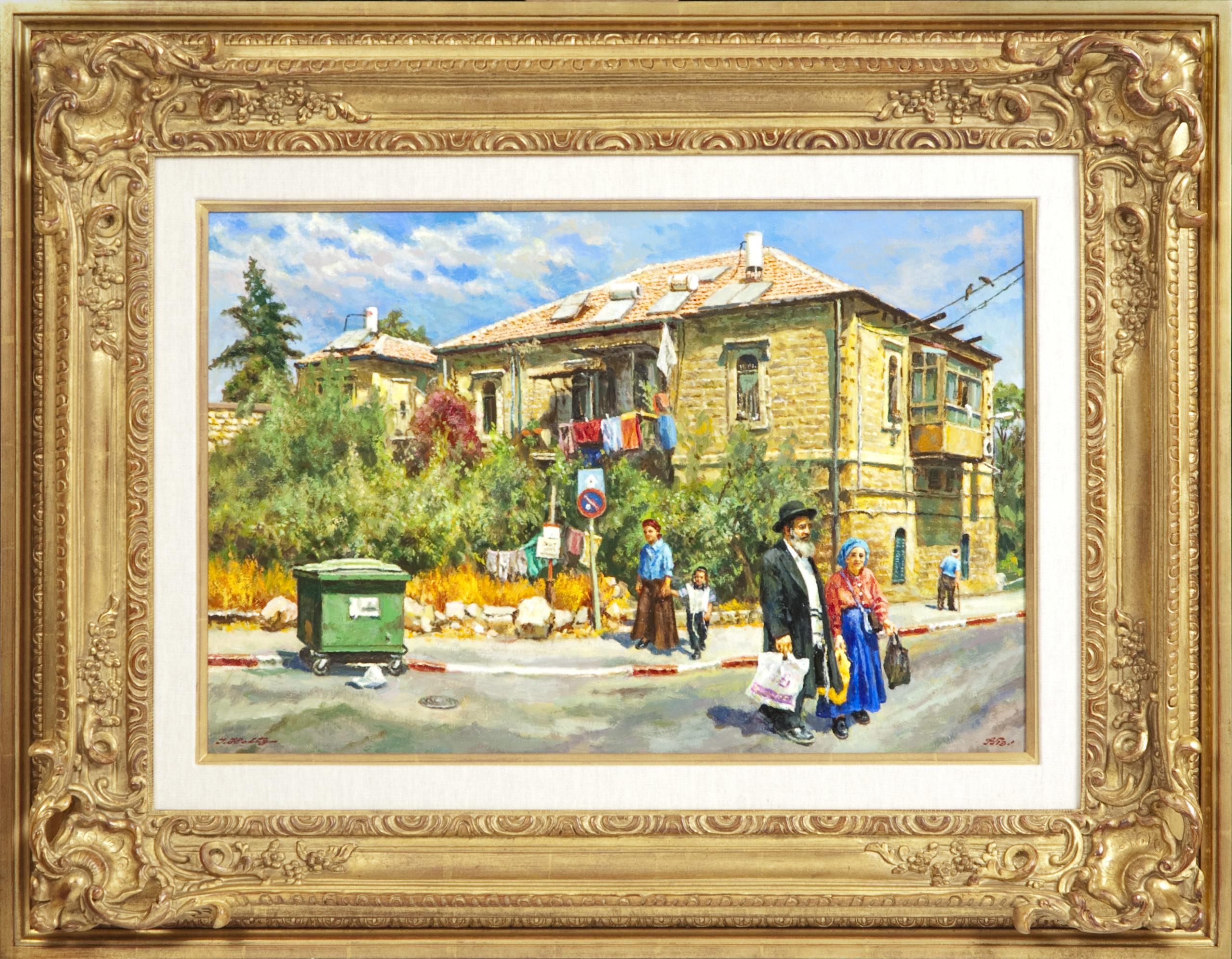 085 Narkiss Street Jerusalem 2008 - Oil on Canvas - 24 x 16 - Frame: 35 x 27.5 x 3.5