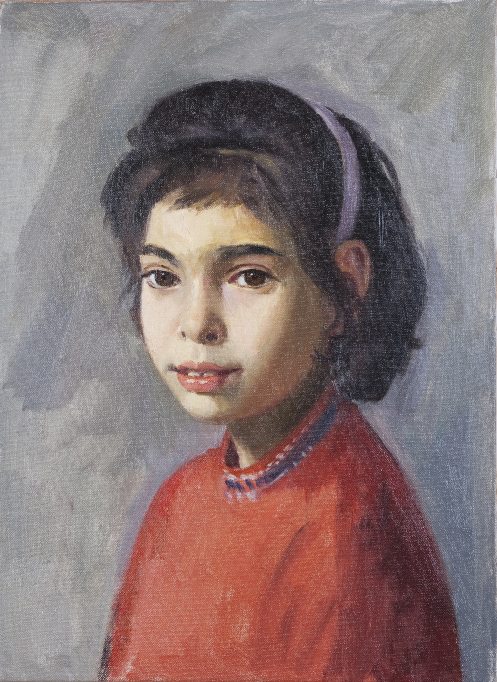 098 Janie 1960 - Oil on Canvas - 10 x 14.25 - No Frame