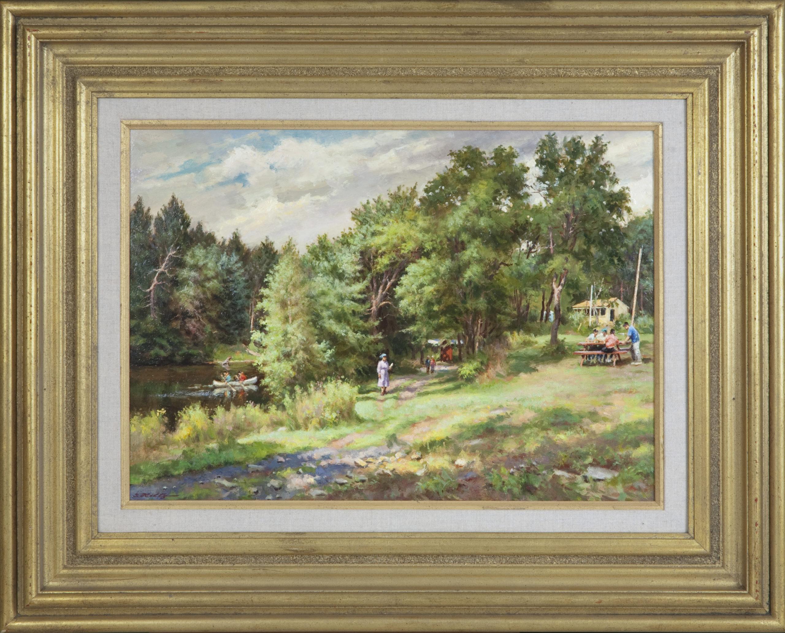 104 Summer in the Poconos 1988 - Oil on Masonite - 20 x 14 - Frame: 29.75 x 23.75 x 2