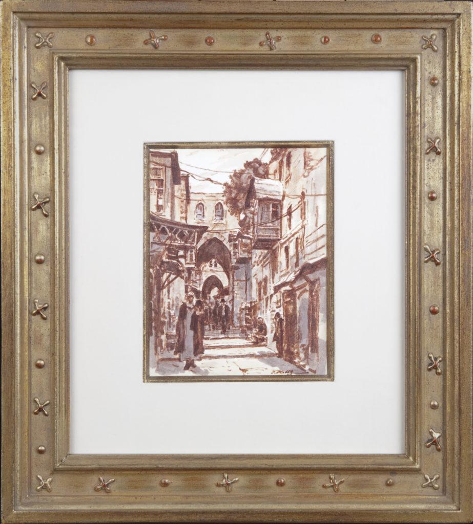 009 Old City Street 1972 - Marker - 6 x 7 - Frame: 15.5 x 17.25 x 1.5