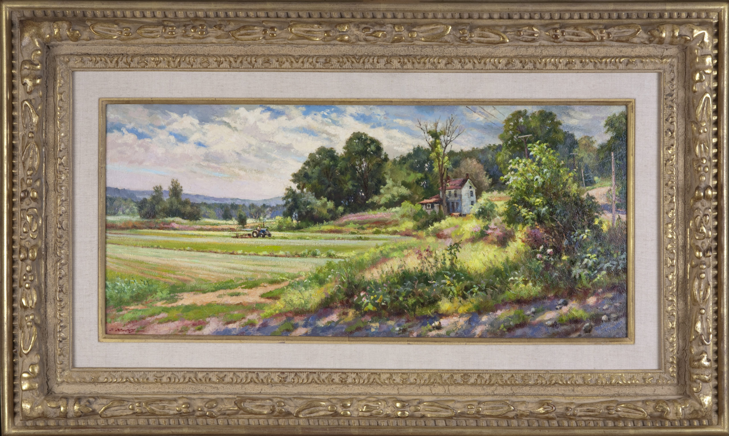 108 Great Meadows 1984 - Oil on Masonite - 27.825 x 11.825 - Frame: 39 x 22.5 x 2.75