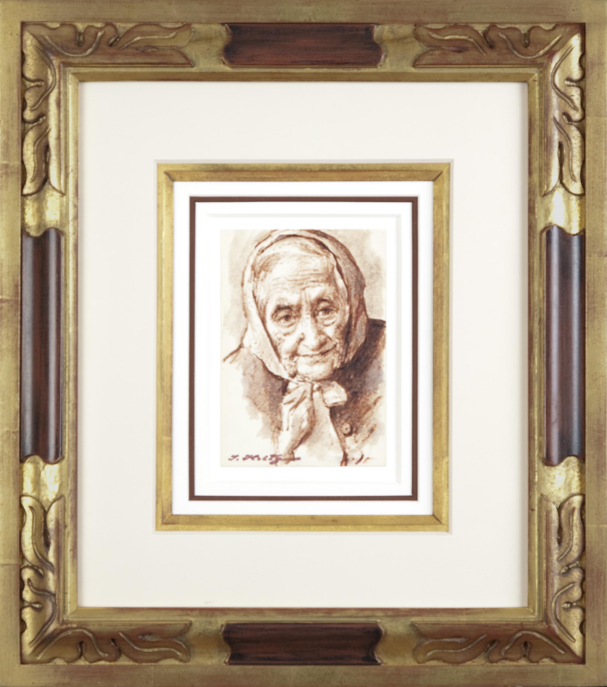 112 Aunt Sarah 1962 - Marker - 4 x 5.75 - Frame: 14.5 x 16.25 x 1.25